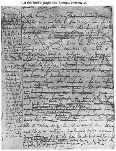 Dernière page de la Recherche, Proust